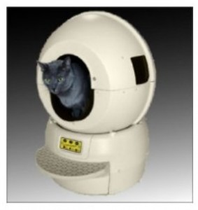 Litter Robot II with cat