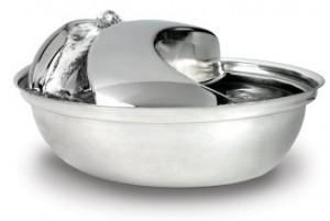 Pioneer Stainless Steel Pet Fountain Raindrop Design