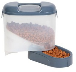 Bergan Pet Feeder Travel Grey