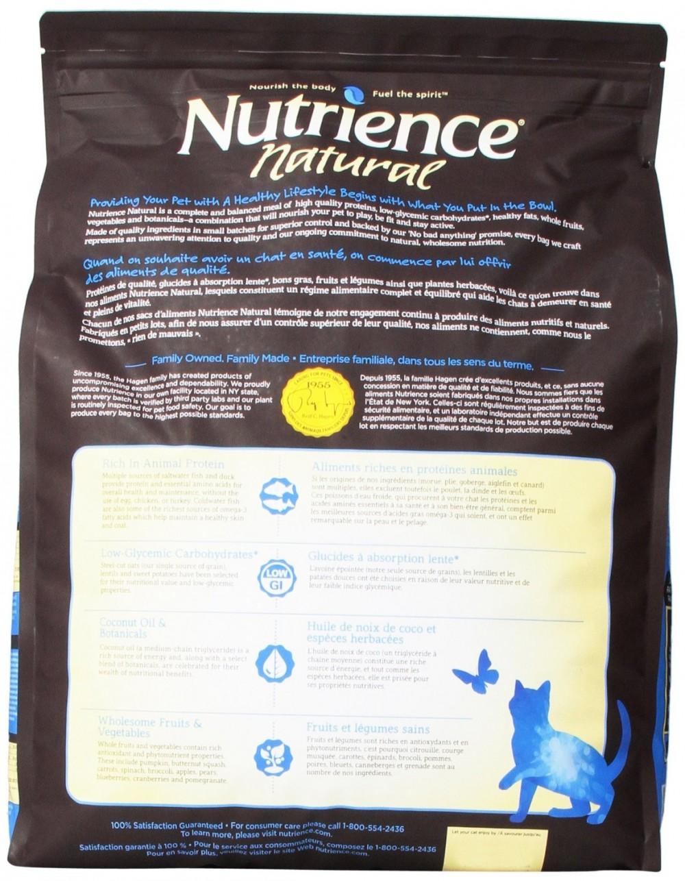 Nutrience Natural bag's back