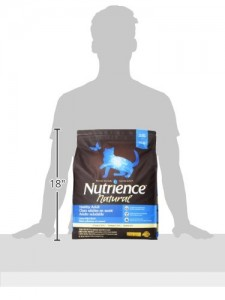 Size of Nutrience 18 lbs bag