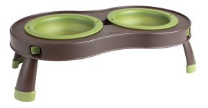Popware for Pets Collapsible Pet Feeder Green