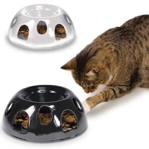 Cat eating from Tiger Ceramic dish