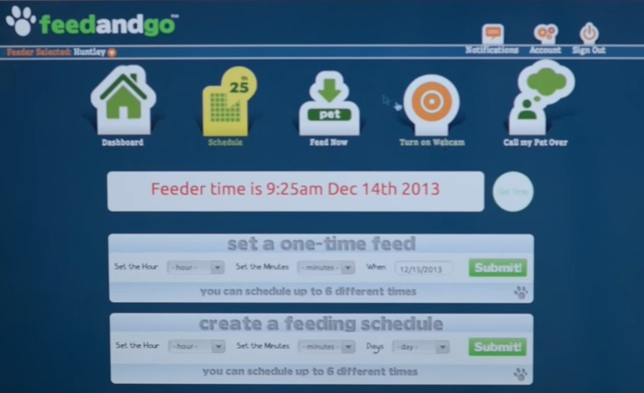 Feed and Go Feeding Options