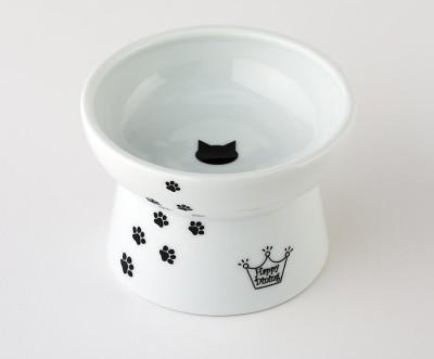 Cat Friendy Elevated Ceramic Bowl Cat Design