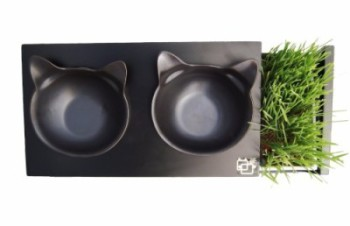 ViviPet Cat Dining Table with grass