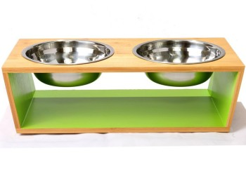 Chelsea Pet Feeder Bamboo