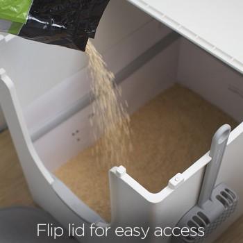 Double-Hinged Flip Lid